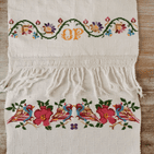 Embroidered Cloth  100 x 46cm